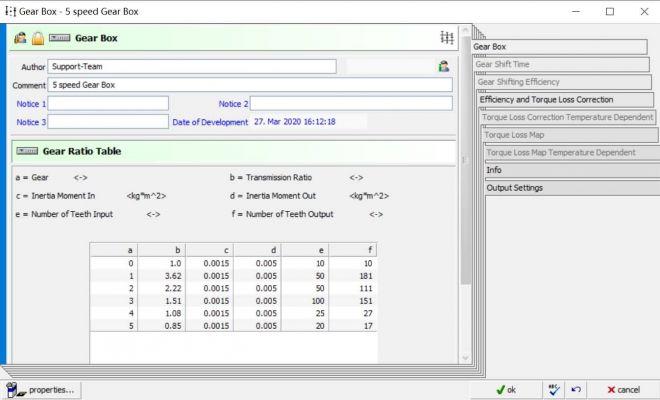 AVL Cruise基础教程:Gear Box模块-用户定义参数-Gear Box基本参数详解 ...