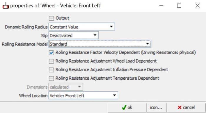 AVL Cruise基础教程:Wheel模块-Properties详解