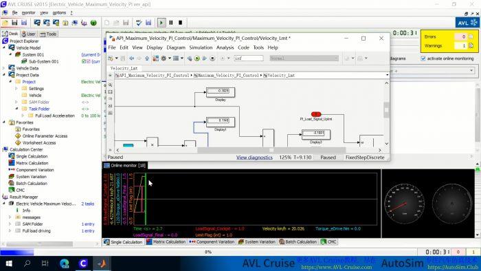 AVL Cruise & Matlab/Simulink使用API接口联合仿真视频教程|实例演示 ...
